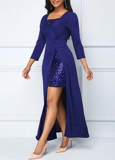 Sequin Embellished Mini Dress and Side Slit Black Dress Stylish Dresses, Women's Fashion Dresses, Sexy Dresses, Beautiful Dresses, Casual Dresses, Formal Dresses, Tight Dresses, Short Dresses, Wedding Dresses
