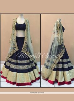 This season your look gets better definition with just a little attention to detail. Make the heads flip as soon as you dress up with this appealing blue banglori silk a line lehenga choli. The brilli...