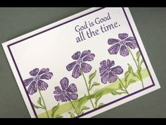 Wild Flowers Clean and Simple Card, Gina K.