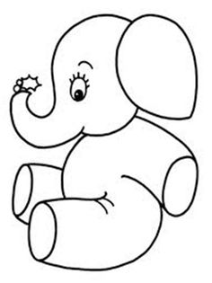Baby Elephant Coloring Pages Beautiful Cute Little Elephant Coloring Page Elephant Drawing For Kids, Small Elephant, Art Drawings For Kids, Little Elephant, Easy Drawings, Easy Coloring Pages, Animal Coloring Pages, Coloring Books, Kids Coloring