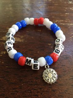 Beer Me Bro // Festival Rave Kandi Charm Bracelet // with beer top charm by lostANGELESravecave on Etsy https://www.etsy.com/listing/471606374/beer-me-bro-festival-rave-kandi-charm