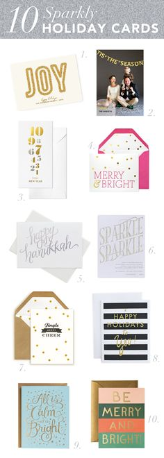 10 Sparkly Holiday Cards To Send This Year