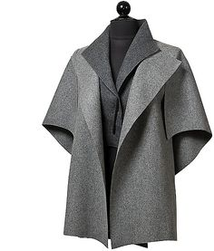 """""""Peel in Charcoal"""" (felted wool jacket) created by Teresa Maria Widuch 1940s Fashion, Fashion Sewing, Grey Fashion, Winter Fashion, Fashion Outfits, Burgundy Homecoming Dresses, Stylish Work Outfits, Classic Style Women, Coat Patterns"""
