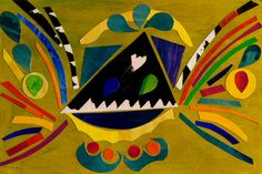 "Saatchi Art Artist Medile Siaulytyte; Collage, ""Volcano"" #art"