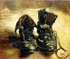 Van Gogh would have loved painting some delivate barefoot sandals on a reclining femme. rather than just a pair of shoes.