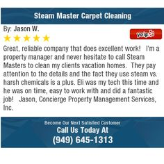 Great, reliable company that does excellent work!  I'm a property manager and never...