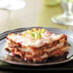 Meatless Zucchini Lasagna Recipe -This meatless lasagna is chock-full of healthy zucchini and delicious cheeses. You'll be surprised that such a generous portion still weighs in at under 300 calories! Ruth Vaught - Tempe, Arizona