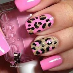 pink&gold cheetah