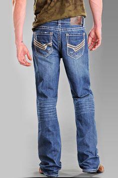 Rock and Roll Cowboy Men's Zig Zag Stitch jeans $74.95