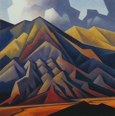 southwestart:  Eroded Mountain 22x22 inches, oil by Ed Mell