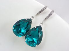 Bridesmaid gift bridesmaid Swarovski Crystal earrings by songtoto