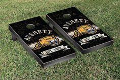 Cornhole Board Set - Averett University Cougars Banner Vintage Version - 36026