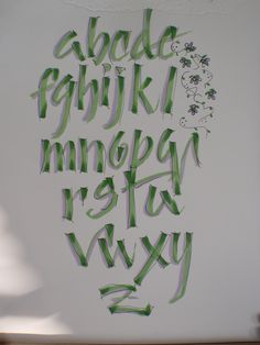 My first calligraphy alphabet!!  Fun with Brushables and Micron pen!