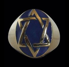 Bronze Star of David Signet Ring Seal of King Solomon-Any Size-Free Shipping #Handmade #Statement