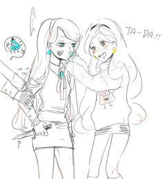 △ Gravity Falls- Reverse Falls △ Rev!Mabel and Mabel