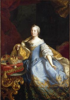 Martin van Meytens II, Portrait of the Empress Maria-Theresa of Austria. Oil on canvas, c. The John and Mable Ringling Museum of Art Marie Antoinette, Austria, Die Habsburger, Ludwig Xiv, Ringling Museum, Maria Teresa, Court Dresses, The Empress, Herzog
