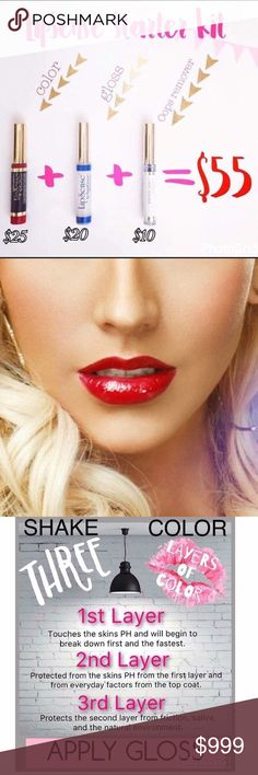 ✨SALE✨ Lip-sense BLU RED Long Lasting Starter Kit LIPSENSE By Senegence  Long Lasting Lipstick Lipstain   Color: Pick Color + Gloss + Oops Remover  Product Detail:   🌺With patented SeneGence formula the color and gloss will bond to your lips to give you long lasting, waterproof & smudge proof color for up to 8 HOURS 🌺Use the Ooops Remover to erase any mistakes or easy removal at the end of the day 🌺1 tube of color LASTS 3-6 MONTHS  # Christina Aguilera Favorite, Kiss proof, Smudge proof…