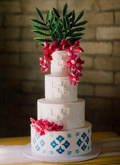Take Me to Mexico City: Vibrant + Modern Mid-Century Wedding Inspiration   Green Wedding Shoes Country Wedding Cakes, Diy Wedding Cake, Wedding Cake Designs, Wedding Cake Toppers, Wedding Shoes, Silhouette Wedding Cake, Bride And Groom Silhouette, Silhouette Cake, Different Wedding Cakes