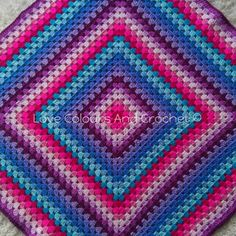 Colourful Granny Square XL Afghan Baby by LoveColoursCrochet