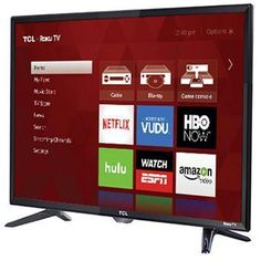 TCL LED Full HD Smart Roku TV w/ 3 x HDMI. TCL Model Number This TCL Roku TV's intuitive interface enables effortless browsing through the many Roku viewing options. 4k Uhd, Tv Store, Tv Tuner, Cable Box, Hd Led, Home Tv, Smart Tv, Disney Channel, Home Theater