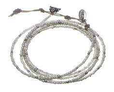 Hultquist Copenhagen white safari wrap bracelet SS13