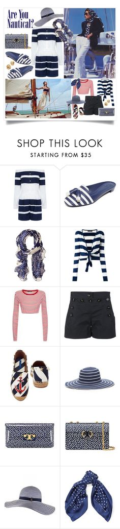 """""""A Nautical Weekend on the Ocean"""" by onesweetthing ❤ liked on Polyvore featuring 10 Crosby Derek Lam, Tory Burch, Lauren Ralph Lauren, Dolce&Gabbana, Black and Saks Fifth Avenue"""