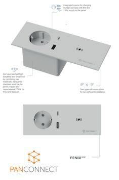 Have you heard about it? SPOOK connection panel - almost invisible but with future connectivity - USB-C and Qi wireless charging spot. Available in autumn Power Strip, Connection, Usb, Stainless Steel, Autumn, Products, Fall, Gadget