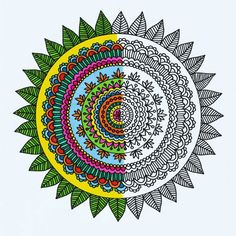 Adult Coloring Book Pages Mehndi Mandalas by by ViewFromTheEdge