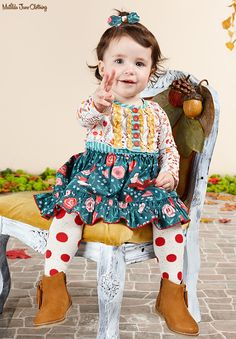 Once upon a time...Fall 2016: Long Ago Dress and Diaper Cover and Harp Tights with Realm Hair Bow