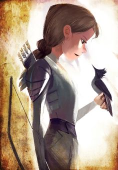 Katniss Everdeen artwork by tapiocadraws. #Mockingjay