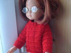 Fiche gratuite vêtements de poupées N°109 PULL ROUGE - Le blog de La malle ô trésor de Sylvie