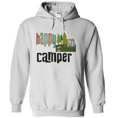 funny happy camping - camper!