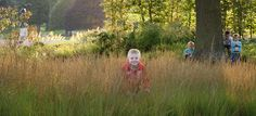 Children enjoy the Rivers of Grass  Trentham Estate  Piet Oudolf