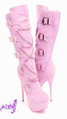 Cute Boots – All About Shoes High Heels Boots, Pink High Heels, Thigh High Boots, Heeled Boots, Gladiator Boots, Women's Shoes, Hot Shoes, Cute Boots, Sexy Boots