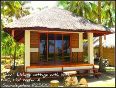 this bahay kubo is a traditional house of filipinos but this one is little bit modern design Bamboo House Design, Tropical House Design, Simple House Design, Rest House Philippines, Bahay Kubo Design Philippines, Strand Design, Filipino House, Bungalow Haus Design, Hut House