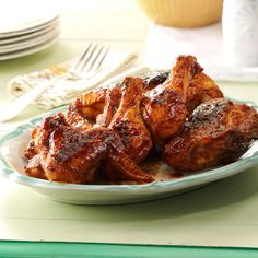 Sweet Tea Barbecued Chicken Recipe -Marinades sometimes use coffee or espresso, and that inspired me to try tea and apple juice to perk up a sauce. Read more on my food blog at wildflourskitchen.com. —Kelly Williams, Forked River, New Jersey
