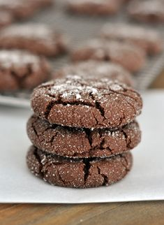 Chocolate Sugar Cookies Recipe. Omg I would die if I ate these.!