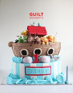 Noah's Ark by Guilt Desserts (6/3/2013) View details here: http://cakesdecor.com/cakes/66127