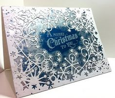 A Merry Christmas to You: Dies - frosty border from Memory Box on outer edges of card