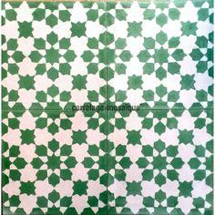 carreaux ciment 1m mur et sol modele prisma-vert