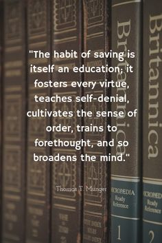 Get educated and start saving!