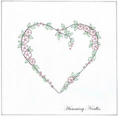 Wonderful Ribbon Embroidery Flowers by Hand Ideas. Enchanting Ribbon Embroidery Flowers by Hand Ideas. Embroidery Hearts, Learn Embroidery, Silk Ribbon Embroidery, Crewel Embroidery, Vintage Embroidery, Embroidery Books, Embroidery Tattoo, Flower Embroidery, Embroidery Designs