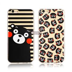 For iPhone 6 6S Plus Utral Slim Thin Case Kumamoto Printed Soft Silicone Phone Case Cartoon TPU Back Cover Cute Coque For Apple