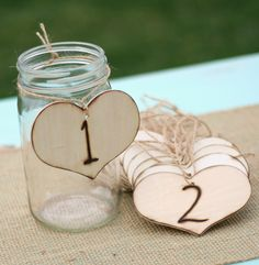 Rustic Table Numbers Vintage Wedding Decor. $44.99, via Etsy.