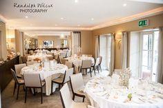 Bingham room set up for a wedding breakfast