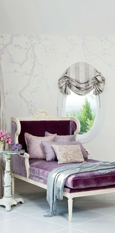 purple is a great pop colour, at Rose cottages and gardens, we love it with gray