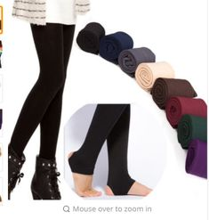 Women Autumn Winter THICK Warm Legging Brushed Lining Stretch Fleece Pants  Trample Feet Leggings 82a4530af