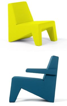 Low lounge #chair with armrests CUBIC by Moca   #design Steven Wittouck
