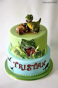 T-rex dinosaur Cake - - Cakes by Mish - Toronto, Canada - -