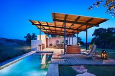 Awesome Architecture » Beautiful Story Pool House in Center Point, TX by Lake|Flato Architects